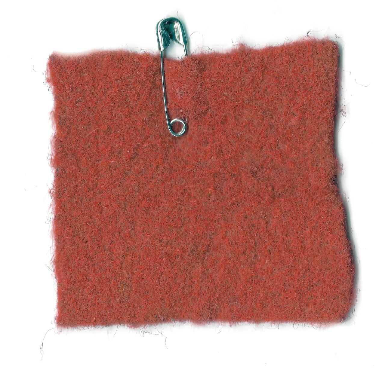 rood vilten vierkantje met een sluitspeld, het symbool van WO in actie
